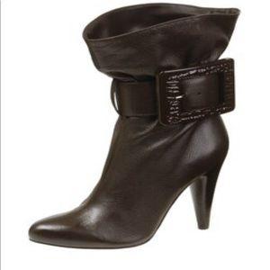 Bakers Leather Jezebel Black Heeled Slouchy Boot